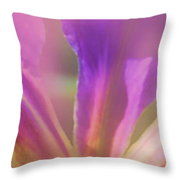 Iris Panorama Throw Pillow