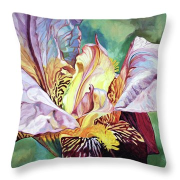 Iris Passion 1993 Throw Pillow