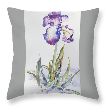 Iris Passion Throw Pillow