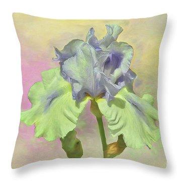 Iris Pastels Throw Pillow