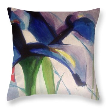 Iris  Power Throw Pillow