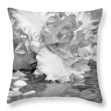 Iris Reflection Throw Pillow