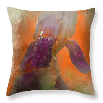 Throw Pillow featuring the digital art Iris Resubmit by Jeff Burgess