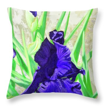 Iris Royalty Throw Pillow