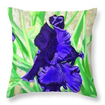 Iris Royalty Throw Pillow