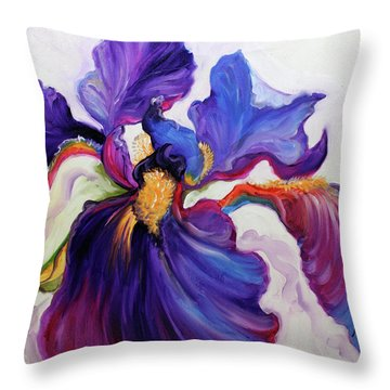 Iris Serenity Throw Pillow