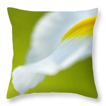 Iris Throw Pillow by Silke Magino