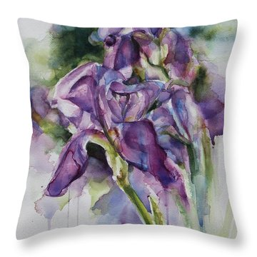 Iris Song Throw Pillow
