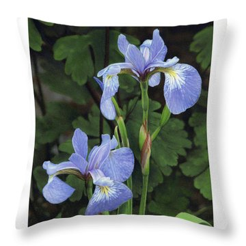 Iris Study Throw Pillow