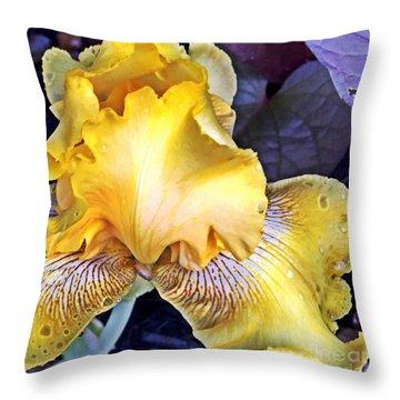 Iris Supreme Throw Pillow