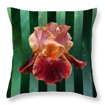 Iris Unleashed Throw Pillow