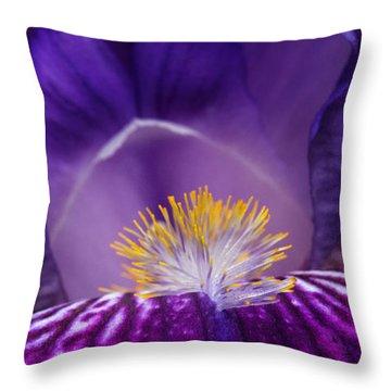 Iris Upclose Throw Pillow