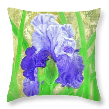 Iris Valor Throw Pillow