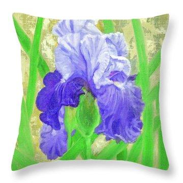 Iris Valor Throw Pillow