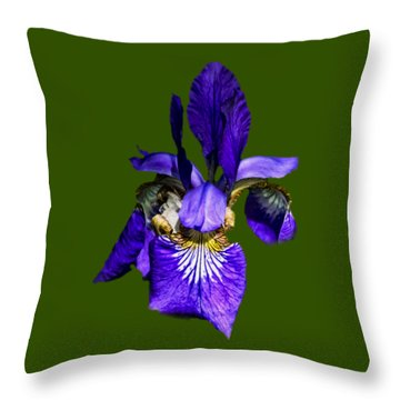 Throw Pillow featuring the photograph Iris Versicolor by Mark Myhaver