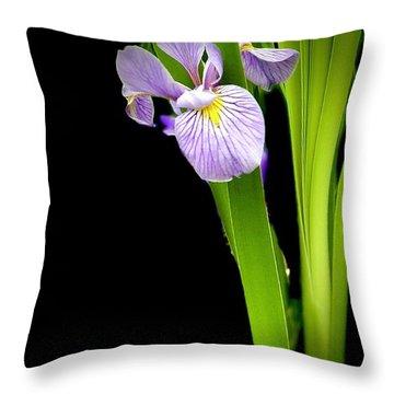 Throw Pillow featuring the photograph Iris Via Iphone by Onyonet  Photo Studios