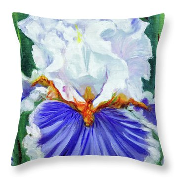 Iris Wisdom Throw Pillow