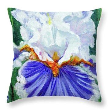 Iris Wisdom Throw Pillow