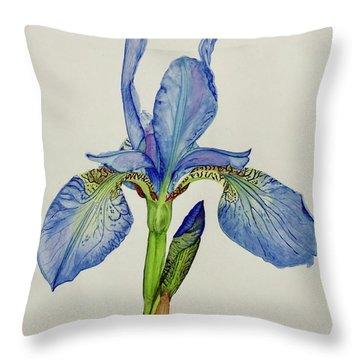 Iris You Were Here Throw Pillow