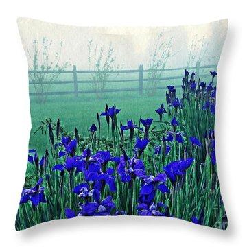 Irises At Dawn 3 Throw Pillow