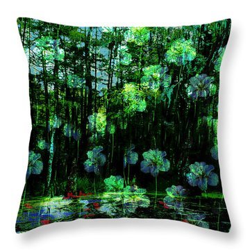 Irises Falling From A Southern Sky  Throw Pillow