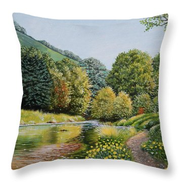 Irish Afternoon Stroll Throw Pillow