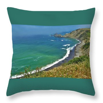 Irish Beach Viewpoint Throw Pillow