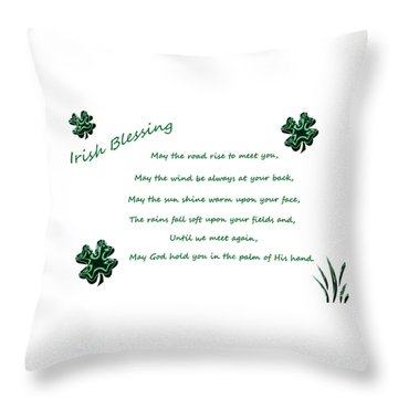 Irish Blessing 2 Throw Pillow