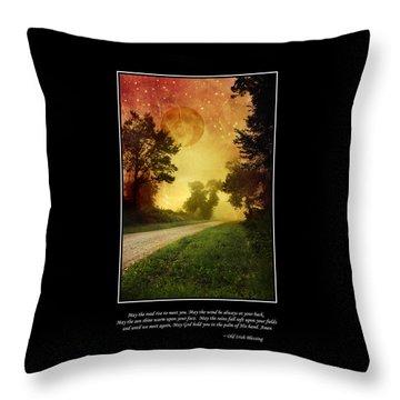 Irish Blessing Poster Art Throw Pillow