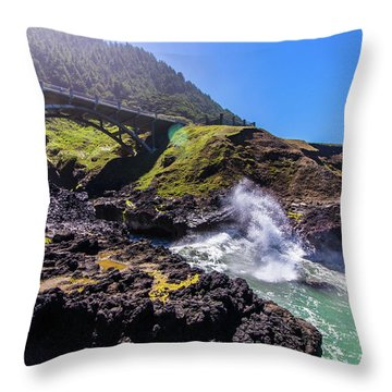 Irish Bridge Throw Pillow