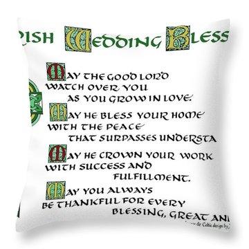 Irish Celtic Wedding Blessing Throw Pillow