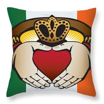 Irish Claddagh Art Throw Pillow