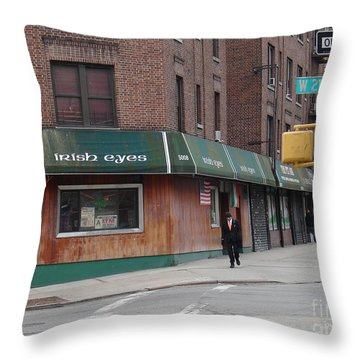 Irish Eyes Throw Pillow by Cole Thompson