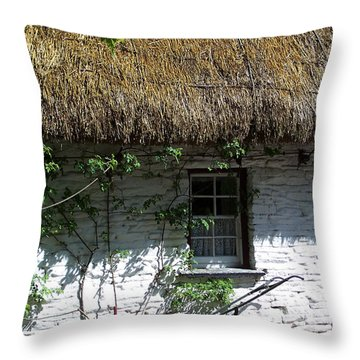 Irish Farm Cottage Window County Cork Ireland Throw Pillow