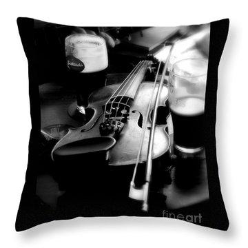 Irish Fiddle On A Break Throw Pillow