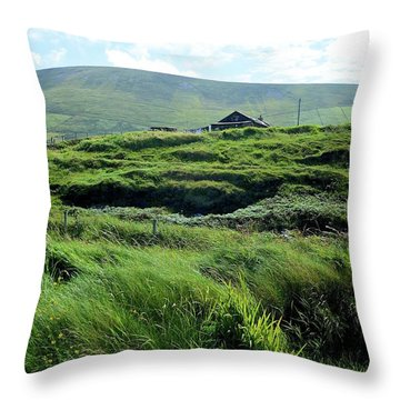 Irish Grasslands Throw Pillow