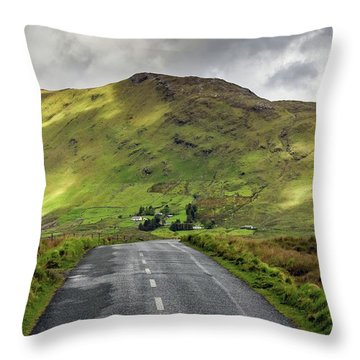 Irish Highway Throw Pillow