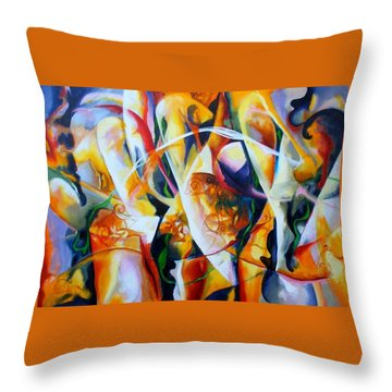 Throw Pillow featuring the painting Irish Madness by Georg Douglas