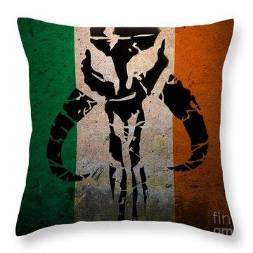 Irish Mandalorian Throw Pillow
