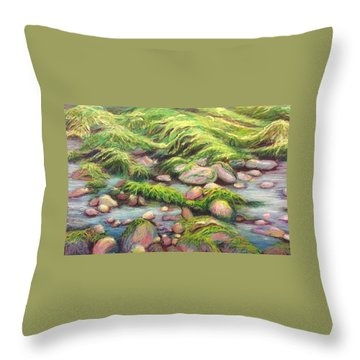 Irish Seas Throw Pillow