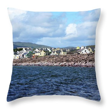 Irish Seaside Village, Co Kerry  Throw Pillow