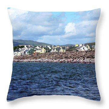 Irish Seaside Village - Co Kerry  Throw Pillow