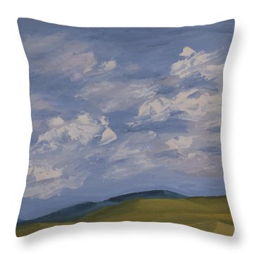 Irish Sky Throw Pillow