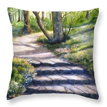 Irish Spring Throw Pillow