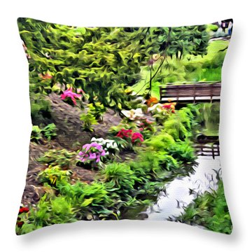Irish Summer Stream Throw Pillow