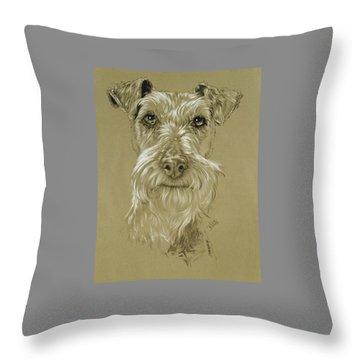 Irish Terrier Throw Pillow by Barbara Keith