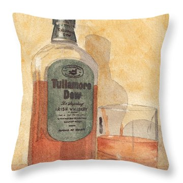 Irish Whiskey Throw Pillow by Ken Powers