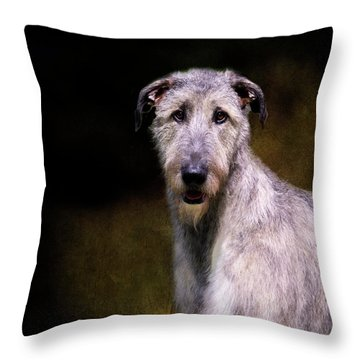 Irish Wolfhound Portrait Throw Pillow