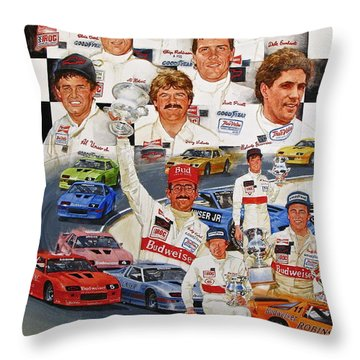 Throw Pillow featuring the painting Iroc Racing by Cliff Spohn