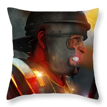 Iron Age The Age Of War Throw Pillow